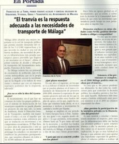 No hace tanto, 1998, De la Torre prefería el tranvía.