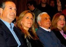 Marín Lara, Trinidad Jiménez, siendo ministra de Exteriores, el subdelegado del Gobierno de Zapatero en Málaga, y la que luego sería presidenta de la Gestora, Susana Radío, antes de que fuera detenido, apoyándolos para alcalde