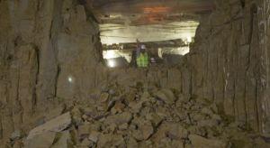 Túnel de la obra del Metro, en una ciudad que ofrece enormes fragilidades