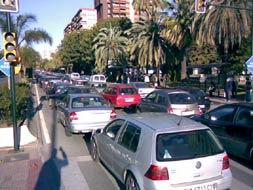 Atascos en la Avenida Andalucía