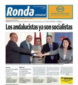 Ronda no apoyó en las municipales del 2011 al tránsfuga, Marín Lara, como candidato del PSOE Ronda no paga a tránsfugas.
