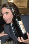 Aznar amigo de la botella de Rioja