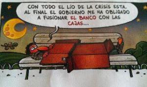 """Bancos y Cajas que """"escapaban"""" del Banco de España."""