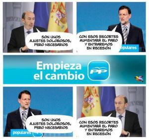 Rubalcaba intercambiando frases con Rajoy y viceversa