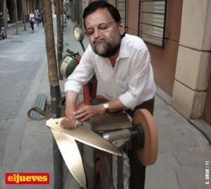 Rajoy, el afilador de los recortes
