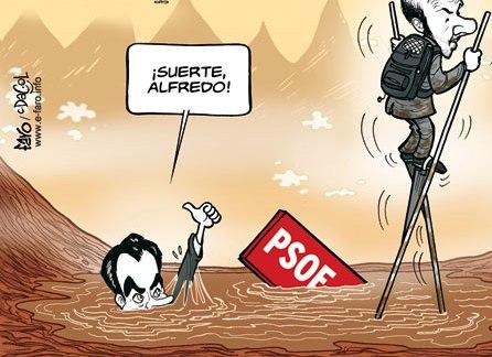 Del naufragio de Zapatero a la agonía de Rubalcaba