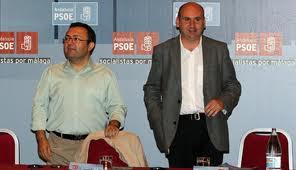 Miguel Ángel Heredia y Francisco Conejo, máximos dirigentes del PSOE de Málaga
