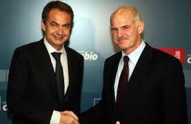Zapatero y Papandreu