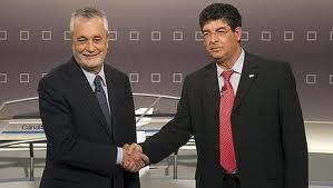 Griñán con su colaigado de IU, Diego Valderas
