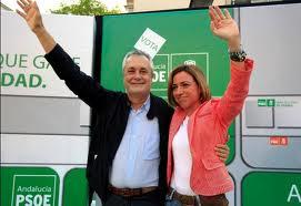 Griñán con la que fuera su favorita para la secretaría federal del PSOE, Carmén Chacón