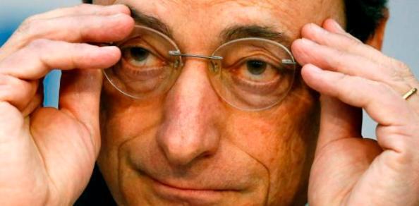 Mario Draghi, presidente del Banco Central Europeo (BCE) que en el pasado contribuyera a falsear las cuentas públicas griegas