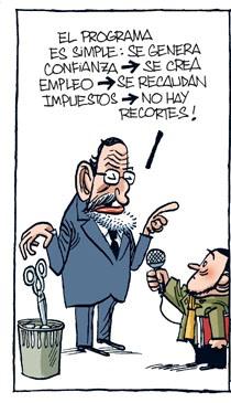 El programa electoral milagrero de Rajoy, no funcionó desde el primer día