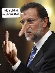 La dedocracia en Rajoy es tan alargada como su pinocha napia