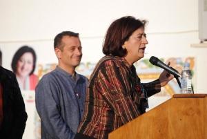 José Antonio Castro, responsable de IU de Málaga, en apoyo a Antonia Muñoz en mitin elecciones municipales. Mayo 2011