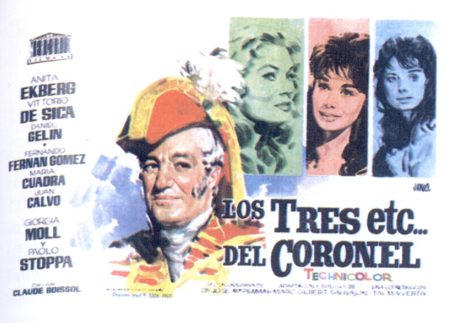 Cartel de Los 3 etc del Coronel en castellano