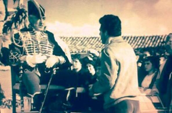 director con Vittorio de Sica rodaje 3 etc del coronel
