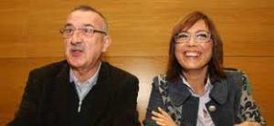 María Gámez con Carlos Hernández Pezzi, el dia en que lo presentó como la estrella para el ayuntamiento de Málaga. Eran otros tiempos.