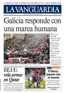 """Galicia se echa a la calle al grito único: """"Nunca mais"""""""