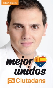 Albert Rivera, de Ciudadans, impoluto y blanco como salido de una lavadora.