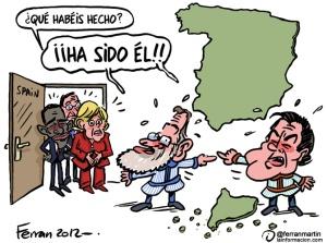 Artur Mas y Mariano Rajoy, ante la mirada internacional, echándose las culpas.