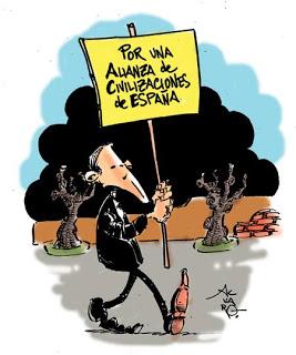 Cualquier intervención de Rajoy, servía para denostar la política exterior de ZP, sobre todo Latinoamérica y países árabes. Ahora se lo traga.