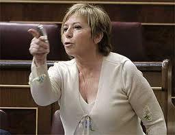 Celia Villalobos desde su escaño