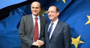 François Hollande y Bersani, dos triunfadorees en primarias abiertas