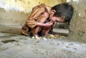 La hambruna sobre los más débiles: la infancia.