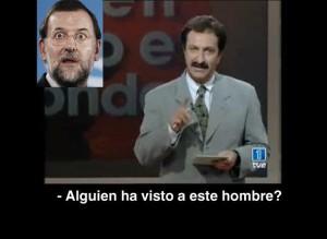 Paco Lobatón buscando a Rajoy, tras la no actualización de las pensiones
