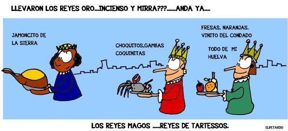 El oro y la mirra serían sustituidos por la rica gastronomía del litoral andaluz