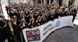 Más de 1500 abogados malagueños en mAnifestación contra las tasas judiciales