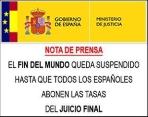 Tasas Judiciales Fin del Mundo