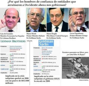 Banqueros fracasados que pasaron a la política al servicio de la banca