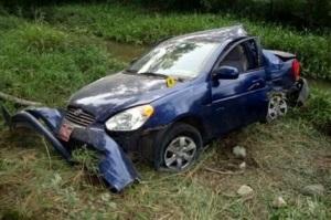 Estado en que quedó el coche que conducía Carromero, con dos muertes