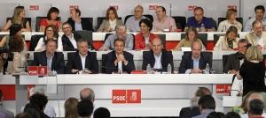 Mesa del Comité Federal que asintió de cuanto hizo Zapatero