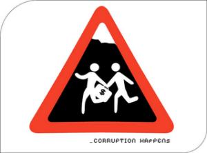 Señal de peligro por corrupción