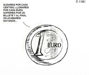 Profecía sobre el €. La ciudadanía hemos sentido la inflación de precios y los recortes.