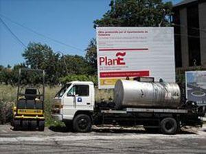 Plan Ñ. Pavimentación en un descampado