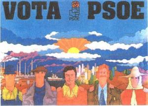 Cartel PSOE. Elecciones 1982, cuando el PSOE era de la abrumadora mayoría de los españoles