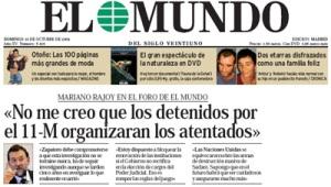 Hasta Mariano Rajoy ruín de la teoría de la conspiración