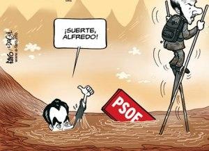 EL PSOE naufragado hace sucesión