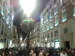 Cubriendo la manifestación de Málaga, calle Larios y la plaza de la Constitución