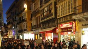 La mani de Málaga por calle Granada