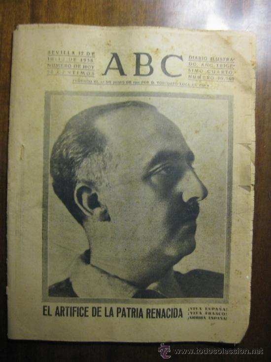 Exaltación al Dictador por parte del Diario ABC
