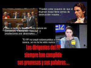 Todos fueron mintiendo, desde Aznar a Rajoy pasando por Cospedal.