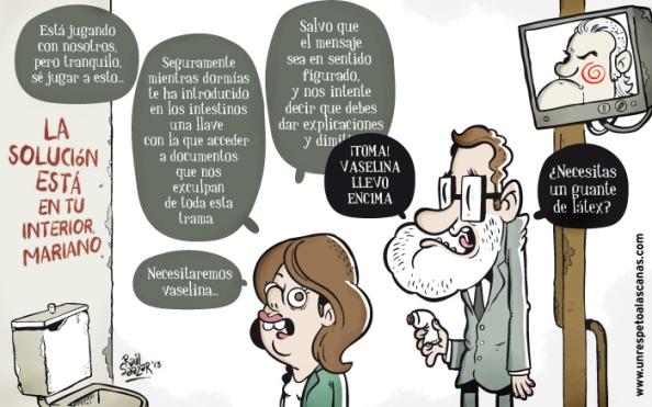 """El pánico entre Rajoy y Soraya por este """"juego"""" de Bárcenas"""