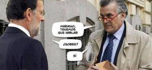 La sombra que acompaña a Rajoy: Luis Bárcenas.