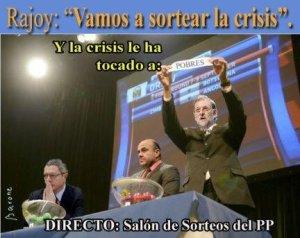 Rajoy en plan ciencia-ficción diciendo que ya estamos sorteando la crisis