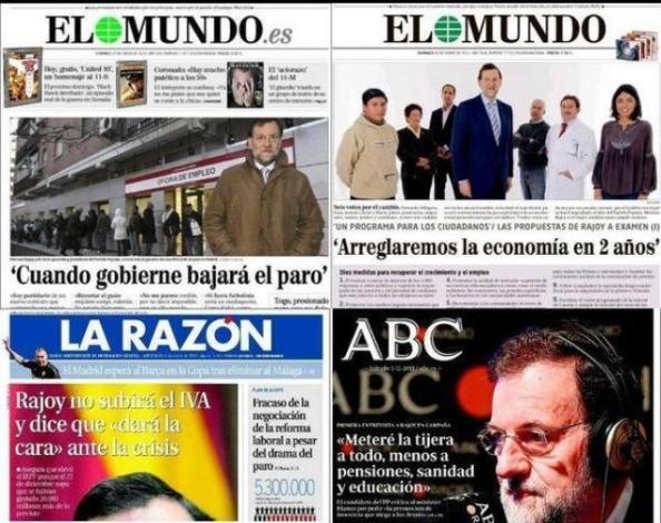 """He incumplido alguna promesa, pero he cumplido con mi deber"" (Rajoy)"