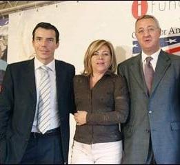 Carlos Mulas, Elena Valenciano y Jesús Caldera en la Fundación Ideas